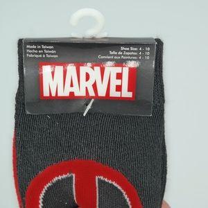 Marvel deadpool socks mens US size 4-10